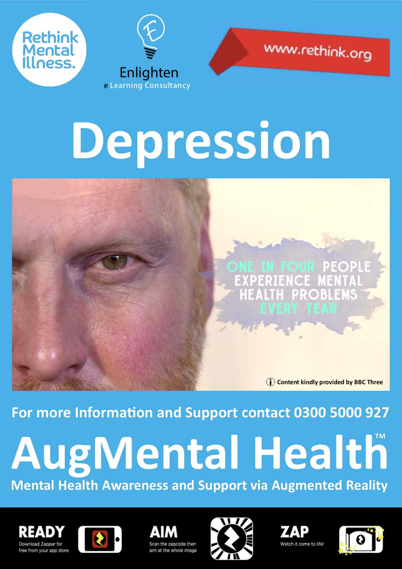 Depression Enlighten AR Poster