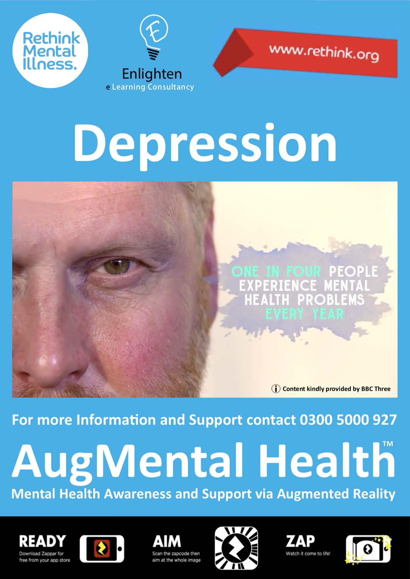 Depression Enlighten AR Poster
