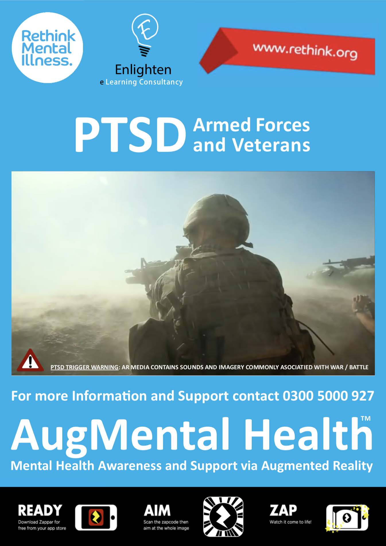 PTSD Enlighten AR poster
