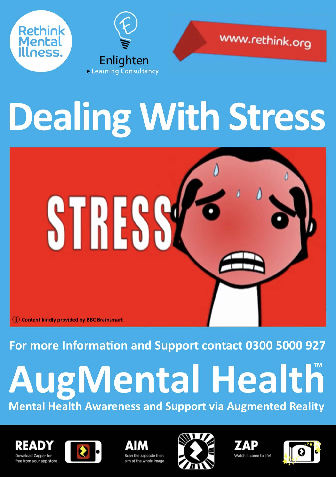 Stress Enlighten AR poster